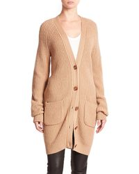Equipment - Natural Kathy Wool & Cashmere Cardigan - Lyst