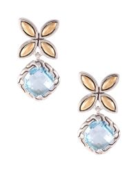 John Hardy | Batu Kawung Blue Topaz Drop Earrings | Lyst