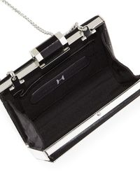 Halston - Black Square Colorblock Minaudiere Evening Clutch Bag - Lyst