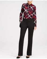 Ann Taylor | Black Tall Kate Refined Flare Trousers | Lyst