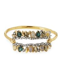 Alexis Bittar | Metallic Elements Fancy I.D. Hinge Bangle Bracelet | Lyst