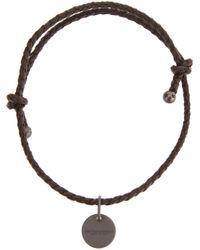 Bottega Veneta | Brown Braided Bracelet for Men | Lyst