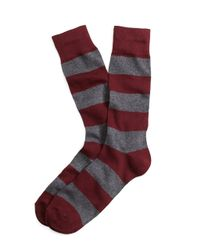 Brooks Brothers | Purple Rugby Stripe Crew Socks for Men | Lyst