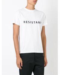 Matthew Miller - White 'resistant' T-shirt for Men - Lyst