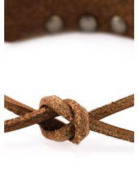 Saint Laurent - Brown Studded Bracelet for Men - Lyst