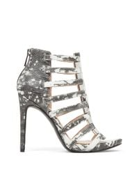 Jessica Simpson | Gray Riahn Leather Cage Heels | Lyst