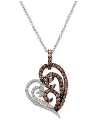 Le Vian | Metallic Chocolatier® Diamond Heart Pendant Necklace (3/4 Ct. T.w.) In 14k White Gold | Lyst