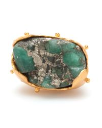 Paula Mendoza - Green Raw Emerald Ring - Lyst