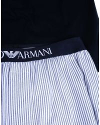 Emporio Armani - Blue Sleepwear for Men - Lyst