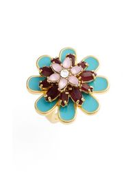 kate spade new york - Multicolor 'bold Blooms' Cocktail Ring - Multi/ Gold - Lyst