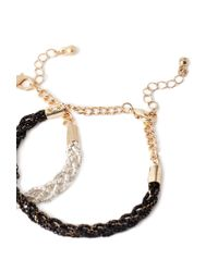 Forever 21 | Metallic Braided Chain Bracelet Set | Lyst