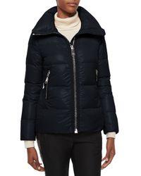 Moncler | Black Joux High-neck Puffer Jacket | Lyst