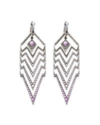 Stephen Webster | Purple Amethyst, Sapphire & Gold Deco Earrings | Lyst
