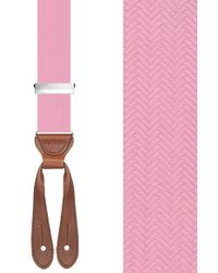 Trafalgar | Pink Herringbone Suspenders for Men | Lyst