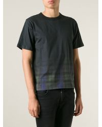 Band of Outsiders | Black Faded Plaid T-Shirt for Men | Lyst