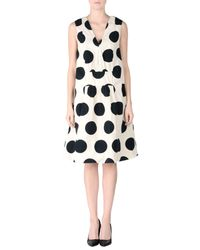 Marni - Natural Knee-length Dress - Lyst