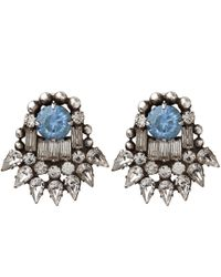 DANNIJO | Blue Silver Clarin Sapphire Stud Earrings | Lyst