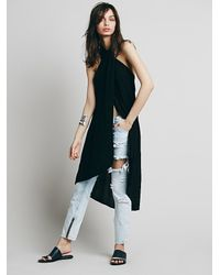 Free People - Black Womens Sleeveless Wrap Maxi - Lyst