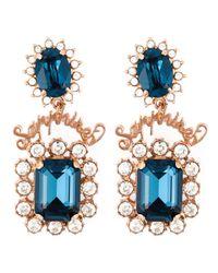 Mawi | Blue 'sapphire Slogan' Earrings | Lyst