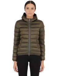 Colmar - Green Shiny Nylon Down Jacket - Lyst