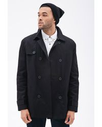 Forever 21 | Black Double-breasted Trench Coat for Men | Lyst