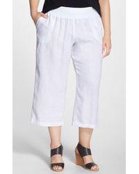 Allen Allen | White Crop Linen Pants | Lyst