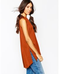 Daisy Street | Brown Tunic With Side Splits | Lyst