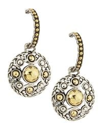 John Hardy - Metallic Palu Round-Drop Hoop Earrings - Lyst