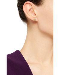 Venyx | Metallic 18k Yellow Gold Moonshell Stud Earrings | Lyst