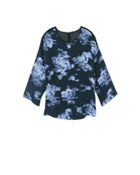 Tibi | Blue Floreale Print Top | Lyst