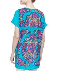 Tolani - Blue Tiffany Floral-Print Tunic - Lyst
