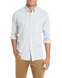 Billy Reid - Natural 'tuscumbia' Standard Fit Gingham Sport Shirt for Men - Lyst