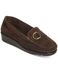 Aerosoles | Brown Parisian Moccasin Flats | Lyst