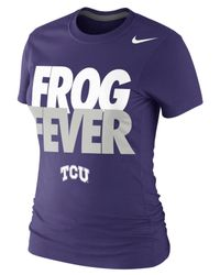Nike - Purple Women's Short-sleeve Texas Christian Horned Frogs T-shirt - Lyst