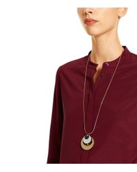 Tory Burch - Metallic Disc Necklace - Lyst