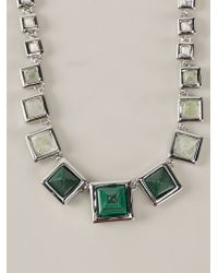 Eddie Borgo | Green Graduated Gemstone Pyramid Necklace | Lyst
