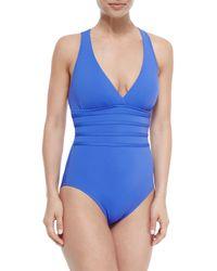 La Blanca - Blue Core Multi-strap-center One-piece Swimsuit - Lyst