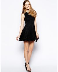 AX Paris - Black One Shoulder Lace Dress - Lyst