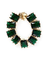 Eddie Borgo - Green Large Rectangle Estate Cubic Zirconia Bracelet - Lyst