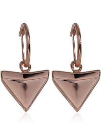 Dominic Jones - Metallic Rose Goldplated Alopias Hoop Earrings - Lyst