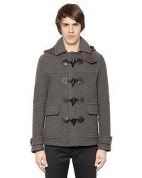 Burberry Brit - Gray Wool Duffle Coat - Lyst