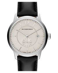 Burberry - Black Textured Dial Watch - Lyst
