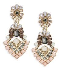 Catherine Stein | Pink Floral Cluster Drop Earrings | Lyst