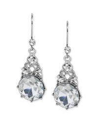 Betsey Johnson - Metallic Crystal Gem Drop Earrings - Lyst
