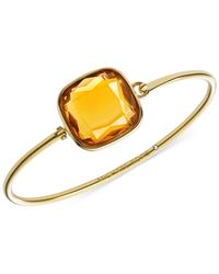 Michael Kors | Metallic Gold-Tone Citrine Bangle Bracelet | Lyst