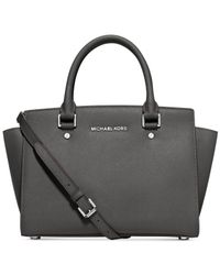 Michael Kors | Gray Michael Selma Medium Satchel | Lyst