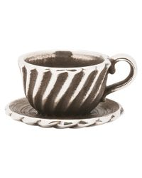 Trollbeads - Metallic Tea Cup Silver Bead - Lyst