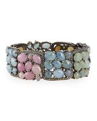 Bavna   Bangle Bracelet With Multicolor Sapphires & Diamonds   Lyst