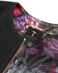 Ted Baker | Black Nuha Cropped Cocoon Jacket | Lyst