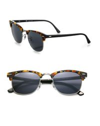 Ray-Ban - Blue Iconic Clubmaster Sunglasses - Lyst